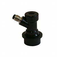 Quick connector -Product out, 1/4″, black